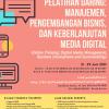 """Pelatihan Daring Bertajuk """"Manajemen, Pengembangan Bisnis dan Keberlanjutan Media Digital"""""""